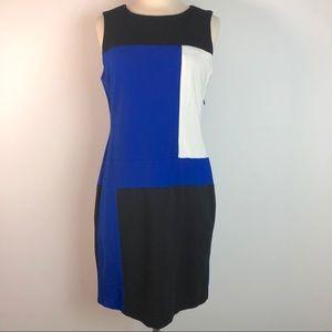 Vince Camuto Sleeveless Colorblock Shift Dress